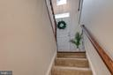 Stairs to Finished Lower Level w/Garage Access - 42660 NEW DAWN TER, BRAMBLETON
