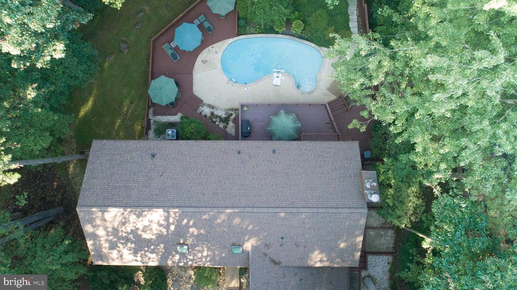 Aerial view of top of house.  Roof replaced 2019 - 10722 CROSS SCHOOL RD, RESTON
