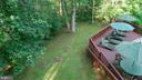 View of backyard open space down to end of lot - 10722 CROSS SCHOOL RD, RESTON