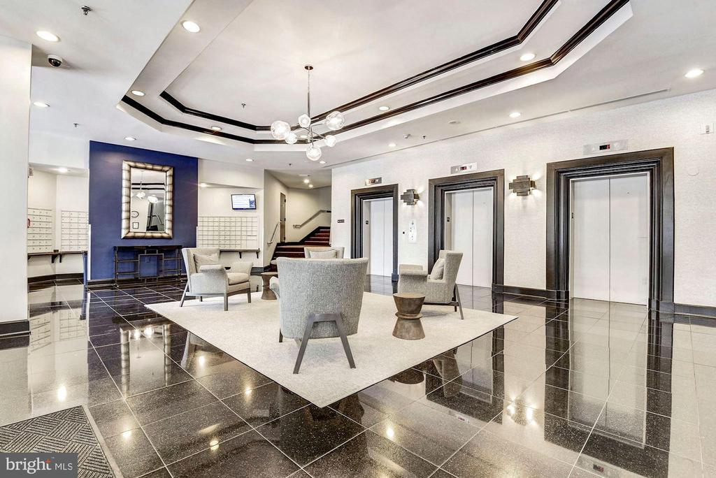 Lobby - Modern, Art Deco! - 1001 N RANDOLPH ST #604, ARLINGTON