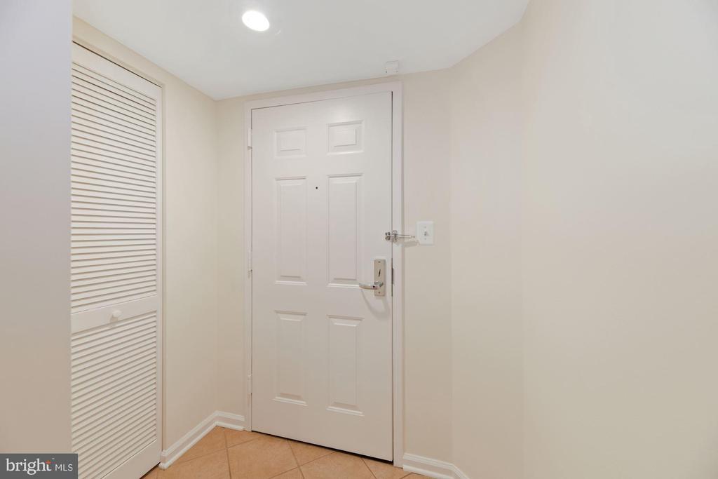 Door to Home + Coat Closet to the Left - 1001 N RANDOLPH ST #604, ARLINGTON