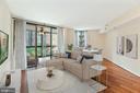 Living Room - Roomy, Spacious, & Very Comfortable! - 1001 N RANDOLPH ST #604, ARLINGTON