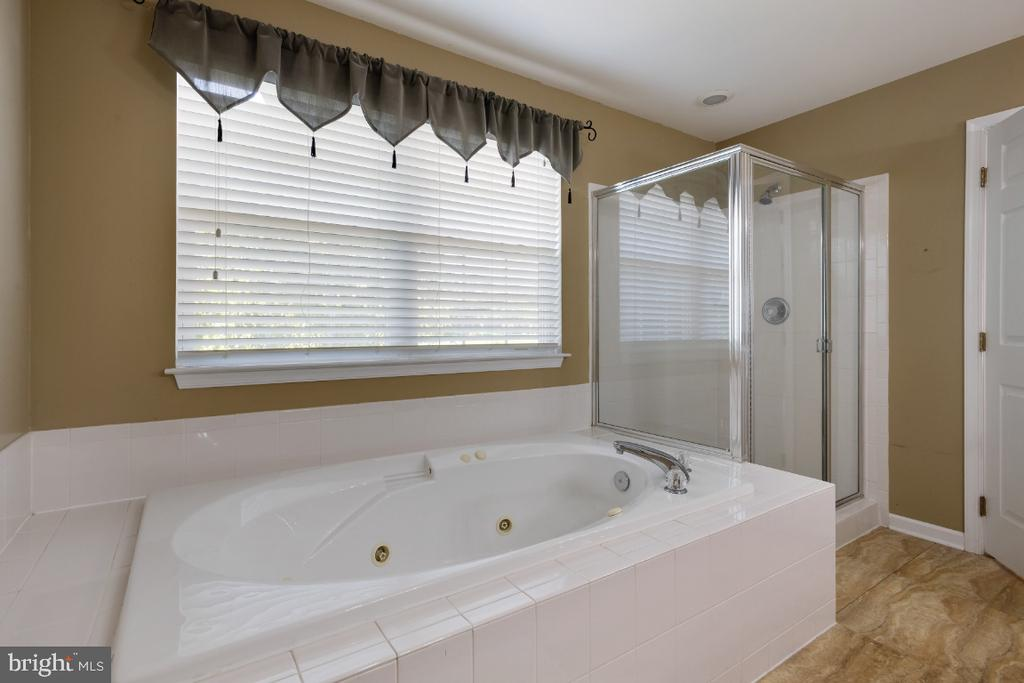 Primary Bath Jetted Tub & Separate Shower - 513 EWELL CT, BERRYVILLE