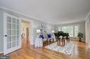 Living room with  hardwood floors - 13832 TURNMORE RD, SILVER SPRING