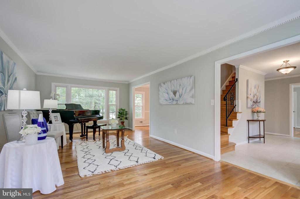 Living room with crown and dental molding - 13832 TURNMORE RD, SILVER SPRING