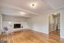 Wood burning fireplace & hardwood floors - 13832 TURNMORE RD, SILVER SPRING