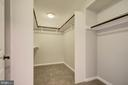 Large walk-in closet in the in-law suite - 13832 TURNMORE RD, SILVER SPRING
