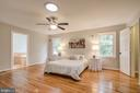 Remodeled Primary bedroom with skylight tunnel - 13832 TURNMORE RD, SILVER SPRING