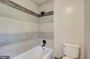 Updated shower in the hall bathroom - 13832 TURNMORE RD, SILVER SPRING