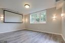 Theatre/ family room in the basement - 13832 TURNMORE RD, SILVER SPRING