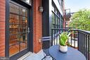 Private Balcony - 1700 N CLARENDON BLVD #123, ARLINGTON