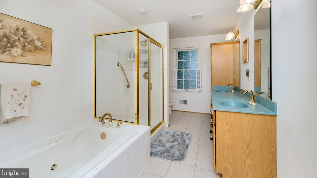 Updated Primary Bath w/Jetted Tub+Separate Shower - 2056 FARRAGUT DR, STAFFORD