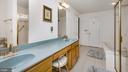 Dual Sink Vanity w/Linen/Storage Pedestal - 2056 FARRAGUT DR, STAFFORD
