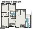 Upper Level Floor Plan - 2056 FARRAGUT DR, STAFFORD