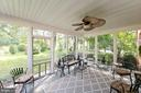 Screened porch off of family room with ceiling fan - 1432 RAMSEUR LN, WINCHESTER