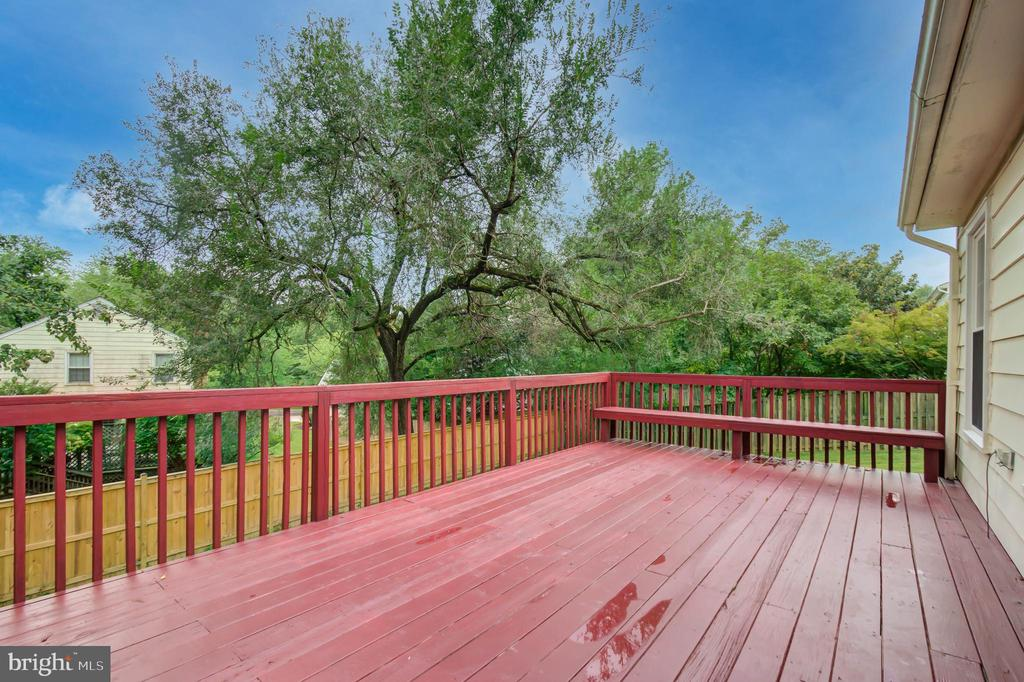 Freshly painted and stained deck - 13832 TURNMORE RD, SILVER SPRING