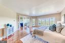 Private sitting area with fireplace and balcony - 18362 FAIRWAY OAKS SQ, LEESBURG