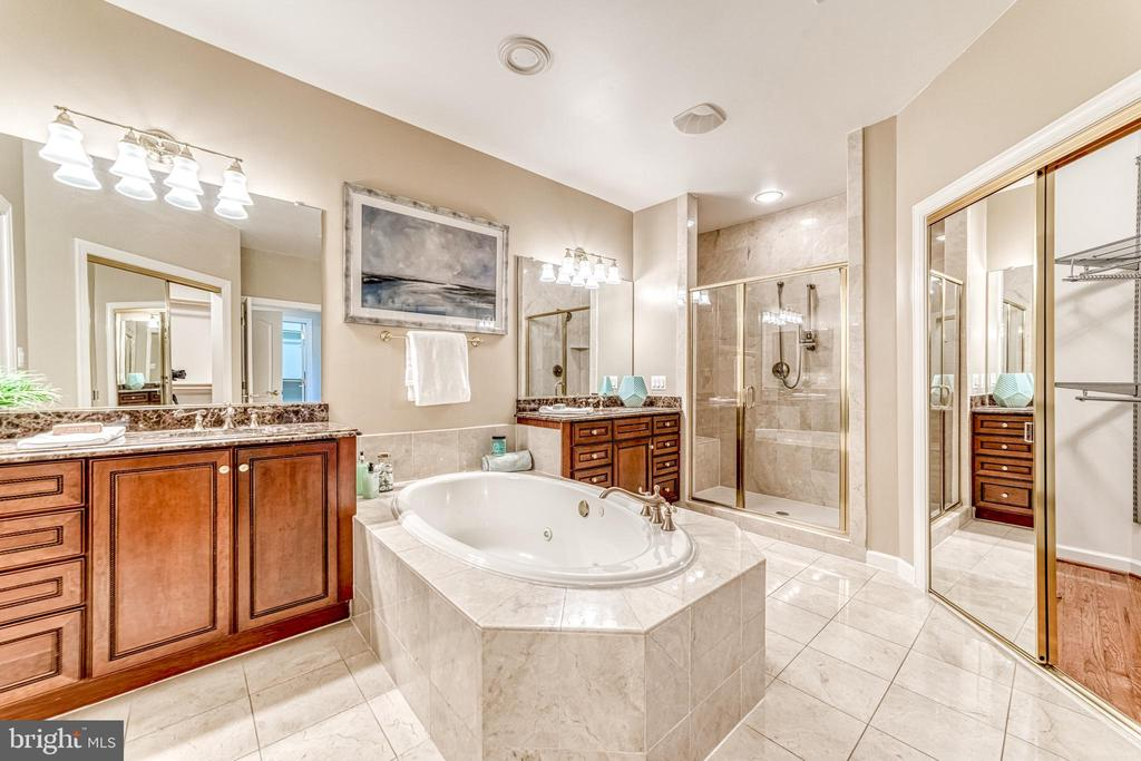 Luxury private bath with jetted tub - 18362 FAIRWAY OAKS SQ, LEESBURG