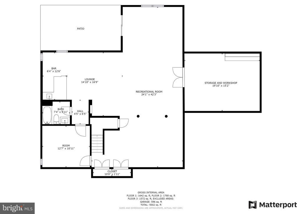 Lower Level Floor plan - 21320 COMUS CT, ASHBURN