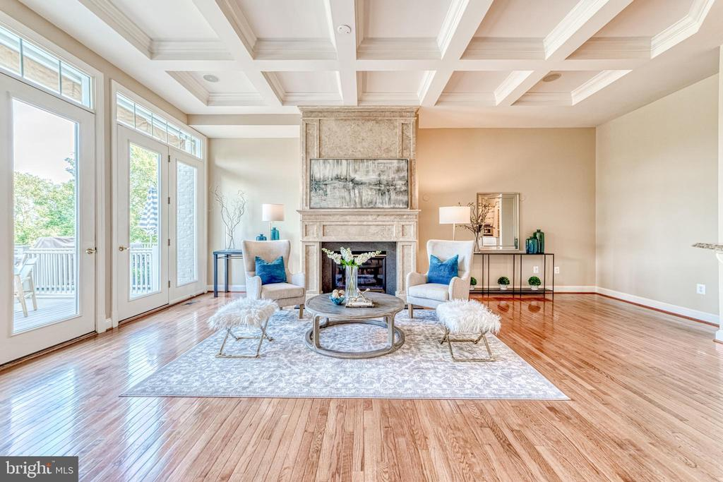 High end upgrades including coffered ceiling! - 18362 FAIRWAY OAKS SQ, LEESBURG