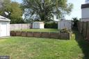 Back yard - private and large!! - 107 PRICE DR, MANASSAS PARK