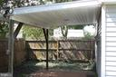 Covered patio - 107 PRICE DR, MANASSAS PARK