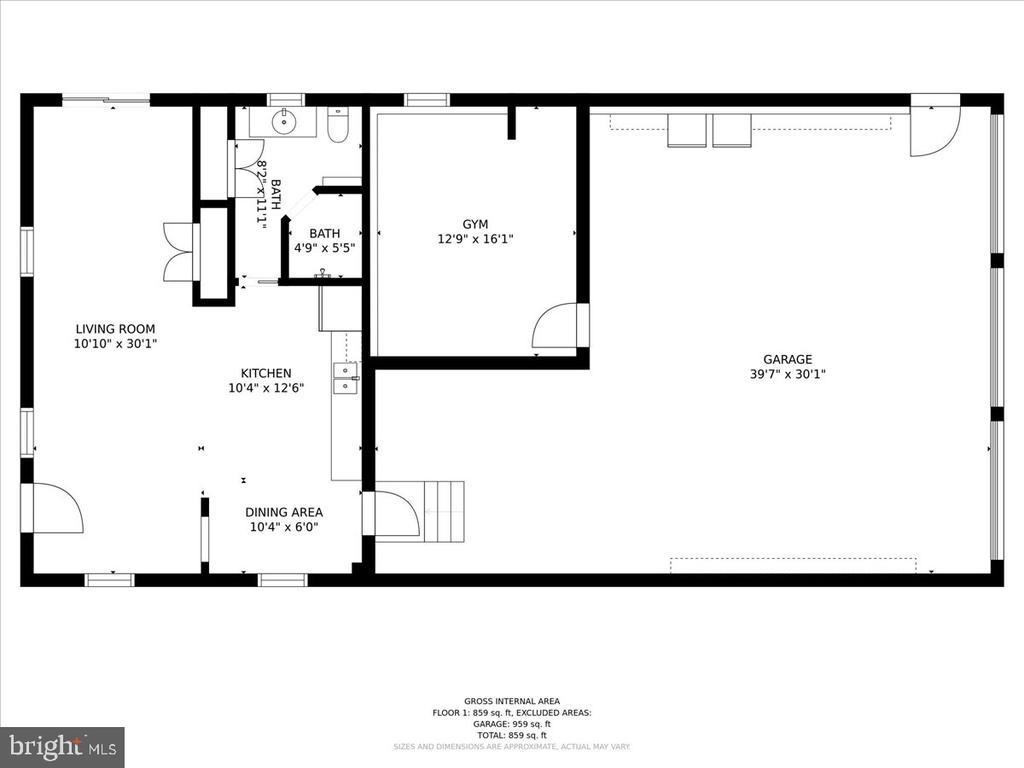 Garage Main Lvl Floor Plan (3 Bays) - 37872 CHARLES TOWN PIKE, HILLSBORO