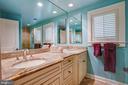 Primary bathroom features double vanities - 1501 CAROLINE ST, FREDERICKSBURG