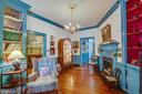 Office/Study features custom woodwork & fireplace - 1501 CAROLINE ST, FREDERICKSBURG