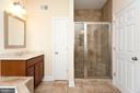 Master shower/bath - 107 HAROLD CT, WINCHESTER