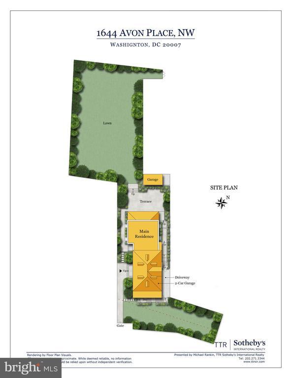 Site Plan - 1644 AVON PL NW, WASHINGTON