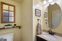 Half bath on the main level - 10 CANDLERIDGE CT, STAFFORD