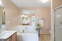 Master bathroom - 10 CANDLERIDGE CT, STAFFORD