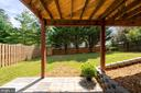 New stone patio - 10 CANDLERIDGE CT, STAFFORD