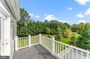 Private balcony off of bonus room - 262 W NORTH AVE, WINCHESTER