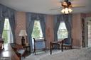 Full bay window with custom window treatments - 11690 FREDERICK RD, ELLICOTT CITY