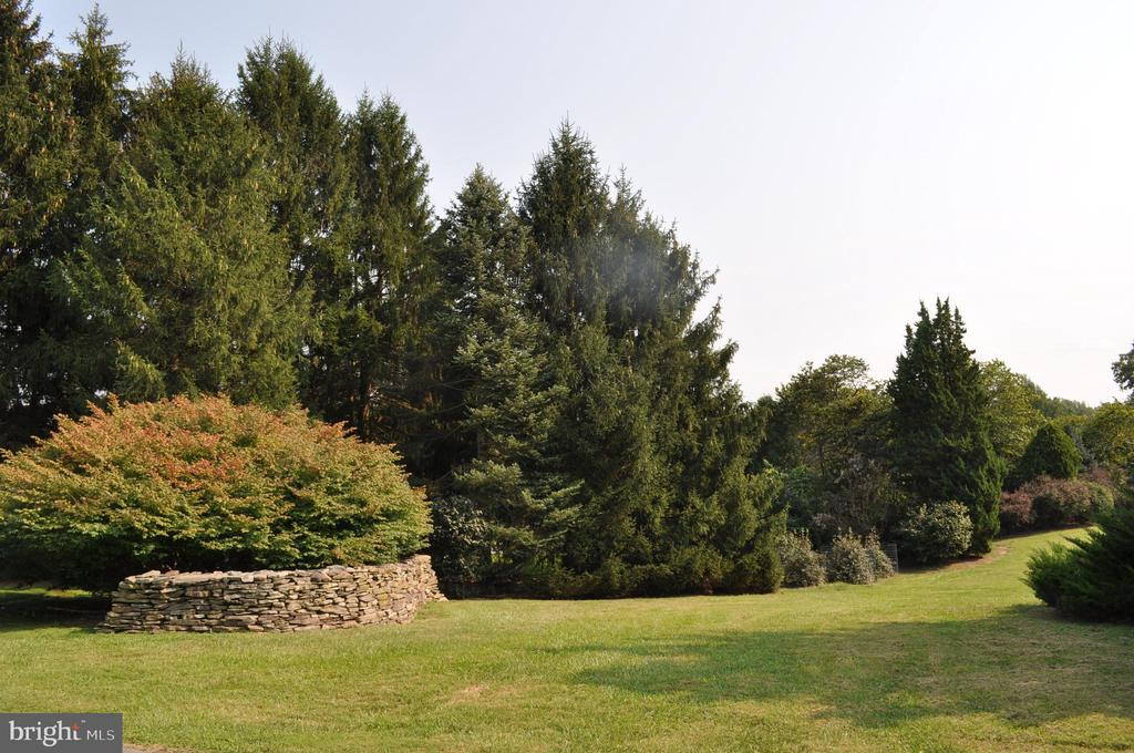 Dry-stacked West Virginia stone walls - 11690 FREDERICK RD, ELLICOTT CITY