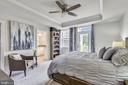 Master bedroom with tray ceiling - 45127 KINCORA DR, STERLING