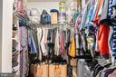 Master bedroom walk-in closet - 45127 KINCORA DR, STERLING