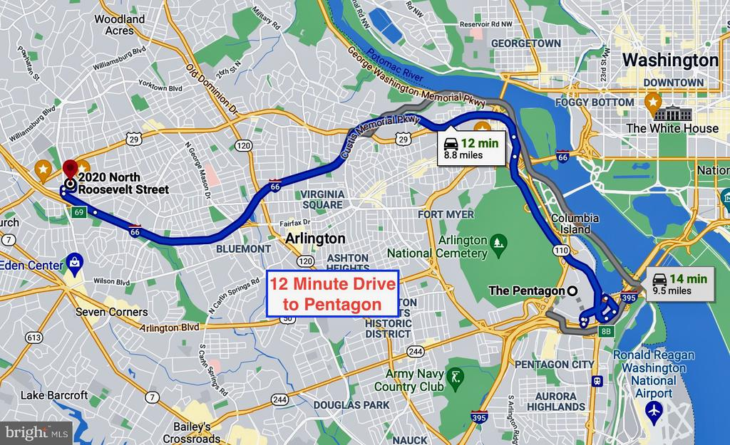 12 minute drive to the Pentagon - 2020 N ROOSEVELT ST, ARLINGTON