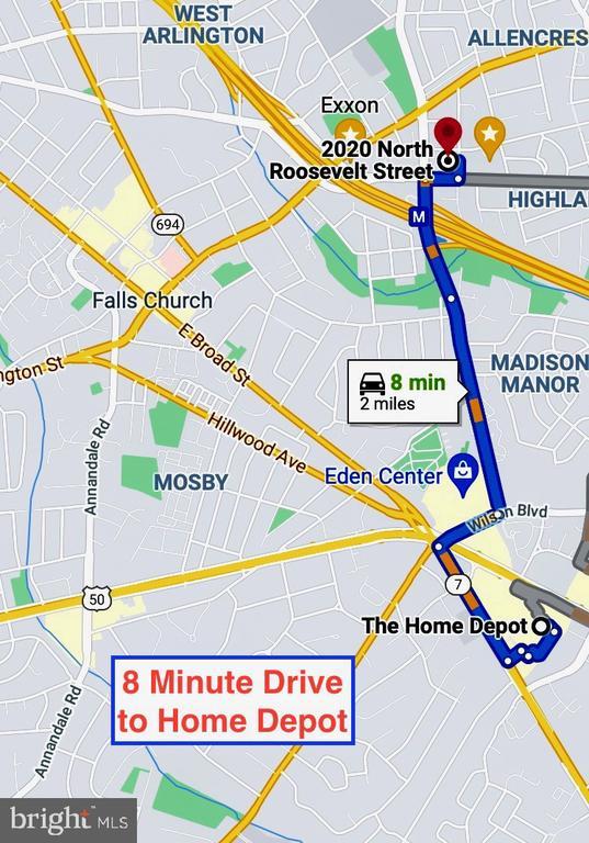 8 minute drive to Home Depot! - 2020 N ROOSEVELT ST, ARLINGTON