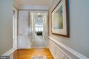 Entry area with beautiful trim work - 68 TABLE BLUFF DR, FREDERICKSBURG