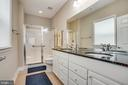 Primary bathroom with dual sinks - 68 TABLE BLUFF DR, FREDERICKSBURG