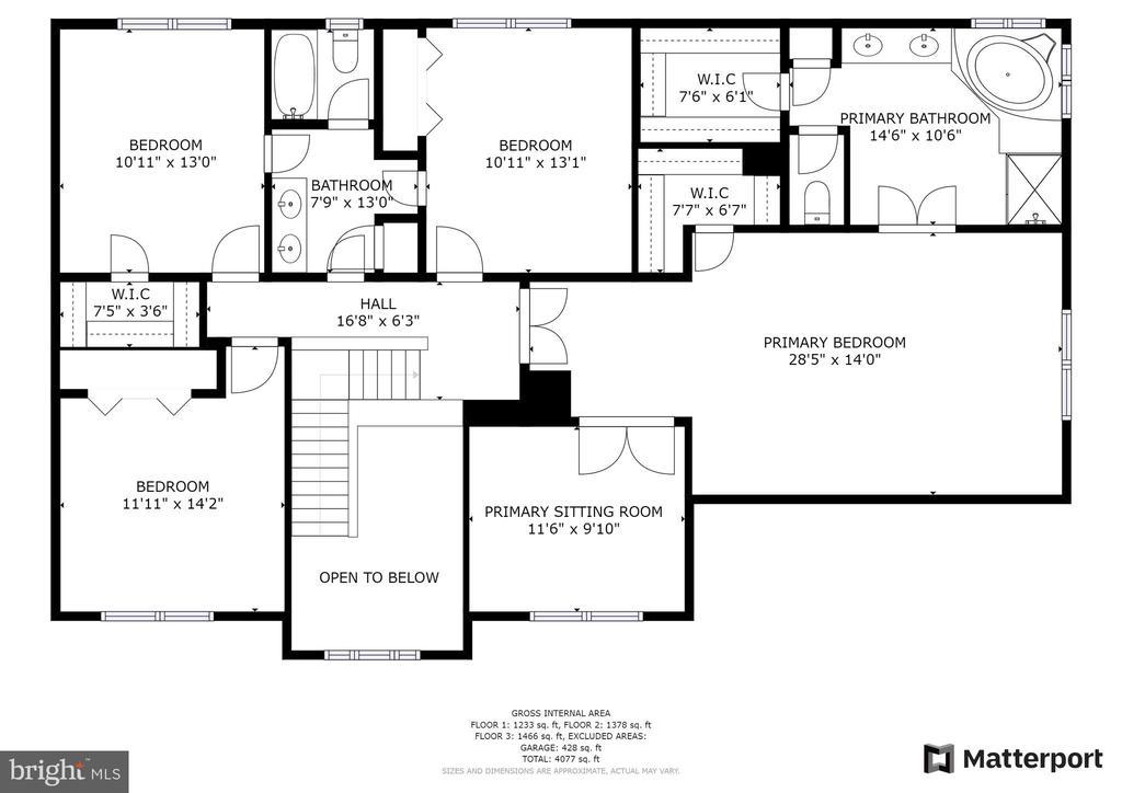 Upper Level Floor plan - 43847 AMITY PL, ASHBURN