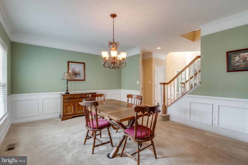 Dining Room Adjacent to Front Foyer and Kitchen - 42972 THORNBLADE CIR, BROADLANDS