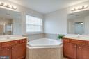 Owner's Suite Bathroom with Double Vanities - 42972 THORNBLADE CIR, BROADLANDS