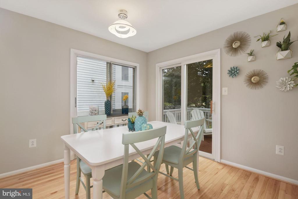 Dining Room - An Abundance of Sunlight Comes In! - 8423 HOLLIS LN, VIENNA