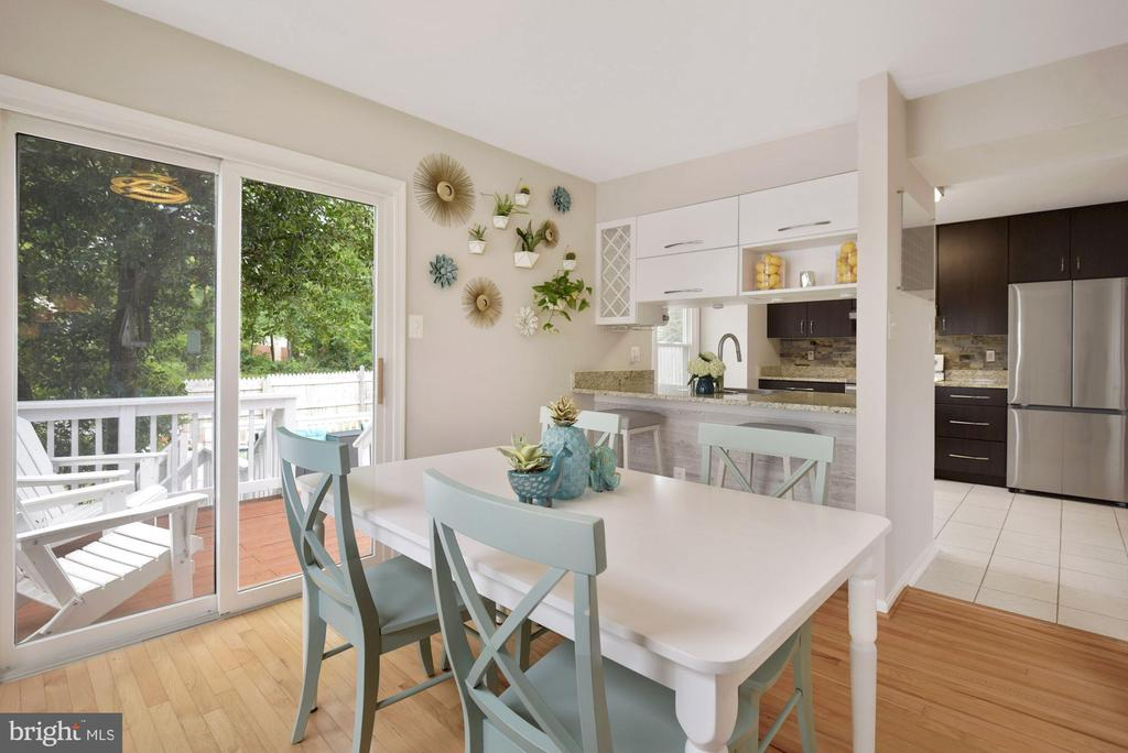 Dining Room Opens Up Nicely to 2-Tiered Deck! - 8423 HOLLIS LN, VIENNA