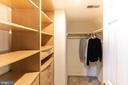 Master BR Walk-In Closet - 42885 GOLF VIEW DR, CHANTILLY