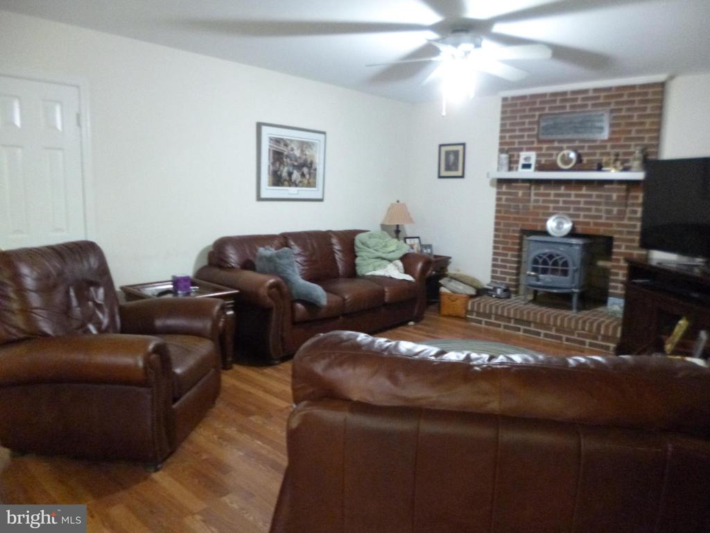 Family Room woodburning fireplace/stove - 4204 AVON DR, DUMFRIES